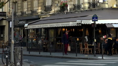 Stock Video Footage of A cozy cafe in the heart of Paris.