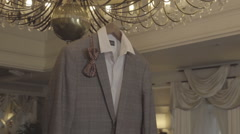 Men's clothing for the wedding Stock Footage