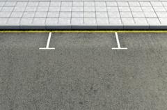 Parking Area - stock illustration