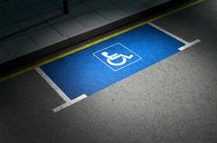 Parking Space Paraplegic - stock illustration