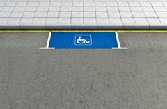 Parking Space Paraplegic Stock Illustration