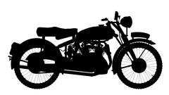 Motor Cycle Silhouette - stock illustration