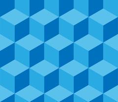 Blue cubic seamless pattern Stock Illustration