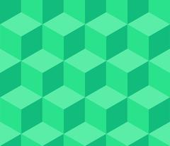 Turquoise cubic seamless pattern - stock illustration