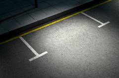 Parking Area Spotlit - stock illustration