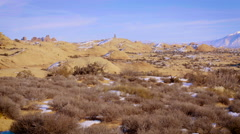 Petrified Sand Dunes And La Sal Mountains Stock Footage