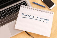 Business Training - stock illustration