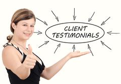 Client Testimonials - stock photo