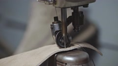Shoemaker at work. Slow motion. Stock Footage