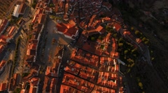 Aerial Cityscape Roof Drone Dwelling City Footage Residential Portugal Famous Stock Footage