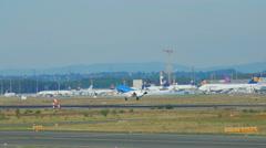 Embraer ERJ-145EP landing Stock Footage