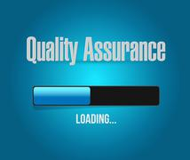Quality Assurance loading Bar sign concept - stock illustration