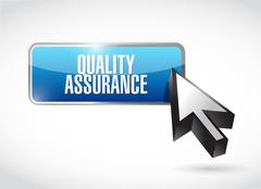 Quality Assurance business button sign concept Stock Illustration