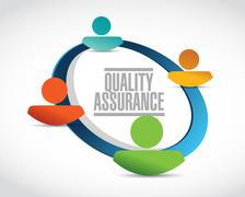 Quality Assurance people network sign concept Stock Illustration