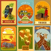 Safari Posters Set Stock Illustration