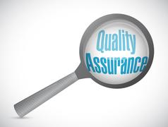 Quality Assurance magnify sign concept Stock Illustration