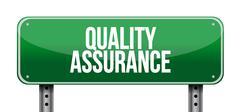Quality Assurance road sign concept illustration - stock illustration