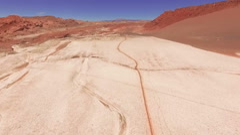 Atacama, Chile - August 22, 2015: The Salty Desert Surface In Atacama Desert Stock Footage