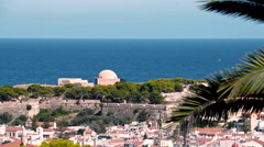 Beautiful Beach Coastline in Crete - stock footage