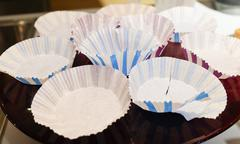 Kitchen Utensil, Empty Paper Muffin Cups or Paper Cupcake Cups, Preparing and Stock Photos