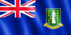 Flag of Virgin Islands waving in the wind Stock Illustration