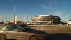 Wide shot Stockholm Tele2 Arena Stock Footage