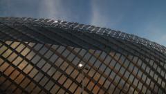 Pan onto Stockholm Tele2 Arena structure Stock Footage