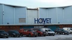 Hovet arena next to Stockholm Globe Arena - Ericsson Globe Stock Footage