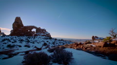 Turret Arch Distant Pan Right Twist Left - stock footage