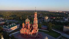 Aerial Russian church Stock Footage