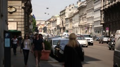 Milan city center Stock Footage