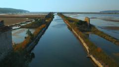 4K Aerial: Along the Salt pans Cannal Stock Footage