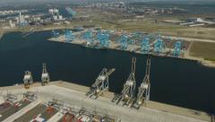 RWG AMP Terminals maasvlakte  Stock Footage