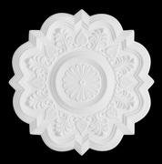 Stucco moulding rosette, isolated on black Stock Photos