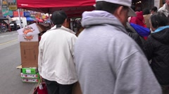 China Town Women shoppers Stock Footage
