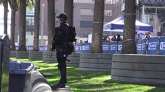 Super Bowl 50 , pre game swat team security Stock Footage
