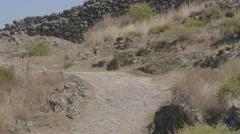 Nature Hiking Landscape Mountain Travel Rock Adventurous Desert Vacation - stock footage
