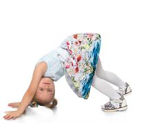 Child crawls on all fours Stock Photos