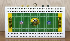 Packers cribbage board Stock Photos