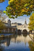 Pulteney Bridge, Bath, UNESCO World Heritage Site, Avon, Somerset, England, Stock Photos