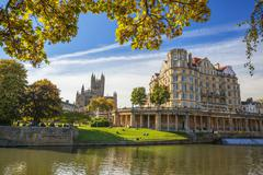 Bath Abbey, Bath, UNESCO World Heritage Site, Avon, Somerset, England, United Stock Photos