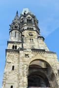 Kaiser Wilhelm Gedaechtnis Church, Charlottenburg, Berlin, Brandenburg, Germany, - stock photo