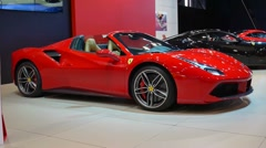 Ferrari 488 Spider sports car Stock Footage