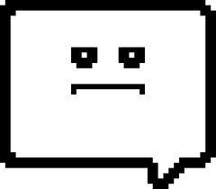 Serious 8-Bit Cartoon Word Balloon - stock illustration