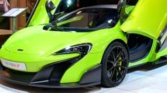 McLaren 675LT sports car Stock Footage