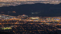 Los Angeles and Griffith Park Night Time Lapse Stock Footage