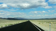 Straight road in Nevada, U.S.A Stock Footage