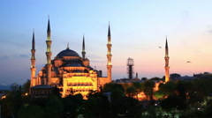 The Blue Mosque at Sultanahmet Square, Istanbul Stock Footage