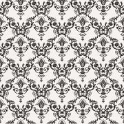 Vector seamless pattern with art ornament for design - stock illustration