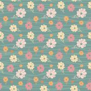 classic wallpaper seamless vintage flower pattern - stock illustration